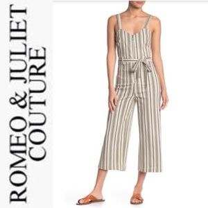 Romeo& Juliet Couture Striped Jumpsuit